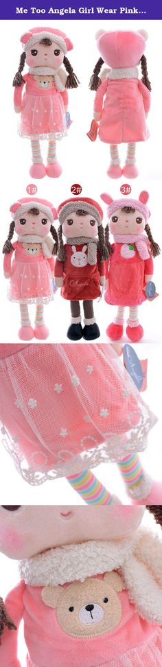 Me Too Angela Girl Wear Pink Lace Winter Dress Baby Plush Dolls Birthday Gift Toys 16''. Sweet gift for Easter day decor,children's birthday,christmas,thanksgiving,mother's day and other memorial day. Collectible dolls for toys collector. It is a collectible stuffed girl's dolls, each series have different story, and you can find the whole set collection in our shop. More popular Metoo dolls include: Tiramitu bunny, Thumb bunny, Angela girl, Dreamy girl, Farm friends, Lover bunny, Wedding...