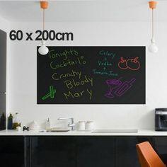 Dry Erase Boards Self-Adhesive Chalkboard Wall Sticker Wall Paper Sticky Vinyl Chalkboard Decal Roll Erase Message Board Blackboard Paint Wallpaper Greenboard for Home Office 79 x 18 Removable