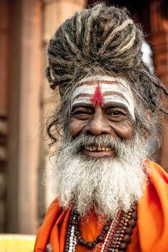 Smiling Sadhu, Varanasi, India