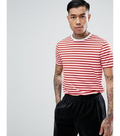 635b7ef3339 Get in line for the new academic year with this ASOS DESIGN stripe tee. The