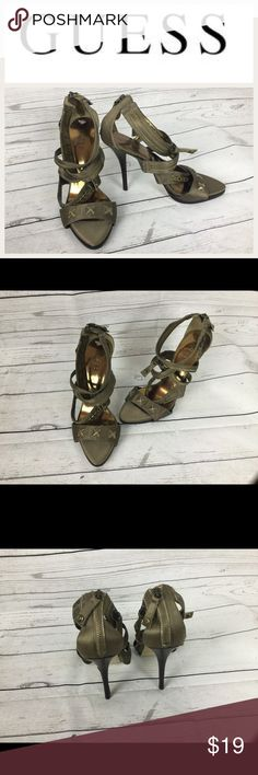 "Guess Designer Shoes Sz 8.5 Guess Designer Shoes Sz 8.5. Heel height  5"". These are so cute and in great shape. Guess Shoes Heels"