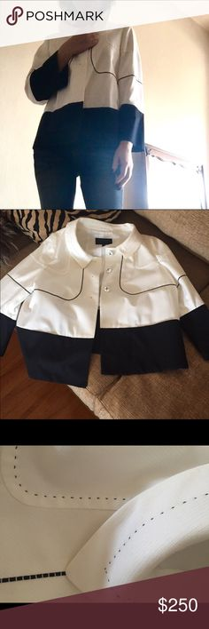 Escada jacket (JACQUELINE  KENNEDY Style) NEW without tag,never wore. 40 German size,fit 0-2.absolutely stunning! Escada Jackets & Coats Blazers