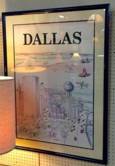 Dallas View of the World Poster   Circa 1982  $165  Dealer #12  Lula B's  1010 N. Riverfront Blvd. Dallas, TX 75207  Open Daily Mon. -- Sat. 10 to 6 Sun. 12 to 6  Like us on Facebook: