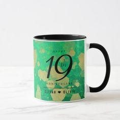 Elegant 19th Jade Wedding Anniversary Celebration Mug  $18.95  by expressionsoccasions  - cyo customize personalize unique diy