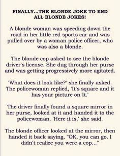 Lol ~ little red car with a blonde in it ? Really- lol ! And who could this be?