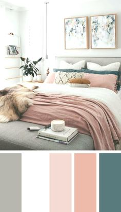 Inspiring Chic Home Color Schemes And Decorations To Get An Pretty Interior - Bedroom inspirations - Bedroom Inspo, Home Decor Bedroom, Modern Bedroom, Contemporary Bedroom, Paint Ideas For Bedroom, Master Bedroom Color Ideas, Adult Bedroom Ideas, Spare Room Decor, Pink Master Bedroom