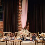 Navy White and Gold Reception Table Decor