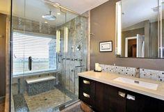 Bathrooms. Fancy Bathroom Steam Shower Designs. Small Purple Mat ...