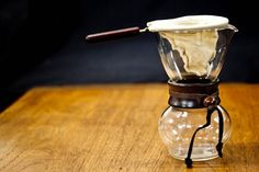 Beautiful shot of a beautiful woodneck coffee brewer - Square Mile Coffee Roasters