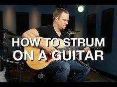How to Strum a Guitar. It's tough to enjoy playing guitar when it's all rudiments and scales and exercises. Learning to strum a guitar properly will have you playing songs in no time, putting a little fun in your practice. By learning some. Easy Guitar, Guitar Tips, Guitar Songs, Guitar Quotes, Simple Guitar, Guitar Art, Basic Guitar Lessons, Guitar Lessons For Beginners, Music Lessons