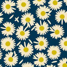 Elizabeth Grubaugh - Garden Roost - Daisy in Navy $9.95