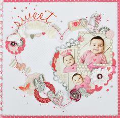 #papercraft #scrapbook #layout Jess Mutty using Secret Crush for Pink Paislee