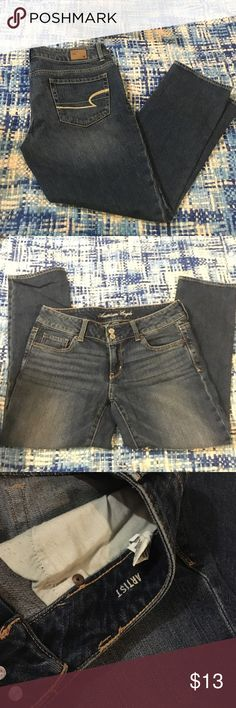 American Eagle Ankle Jeans These are Capri or Ankle pants depending on your height. Worn maybe one time. Artist style. American Eagle Outfitters Jeans Ankle & Cropped