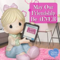 Who is your forever BFF?    #PreciousMoments #LifesPreciousMoments #BFF #BestFriends #FriendsForever