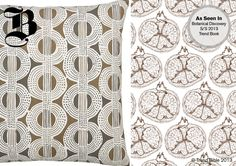 I love how these natural forms provide a modern, repeat print.