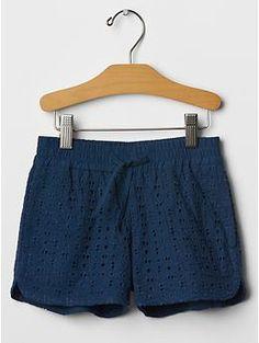 Eyelet varsity shorts | Gap