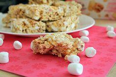 Raspberry-Peach Marshmallow Squares