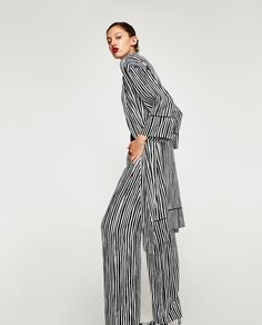 Image 4 of STRIPED KIMONO from Zara