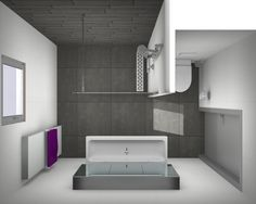 Here is a small bathroom style that said that realistically satisfies a straightforward, minimal, modern-day and luxurious interior style. Modern Small Bathrooms, Bathroom Design Small, Modern Bathroom, Master Bathroom, Bathroom Wall Decor, Bathroom Layout, Bathroom Ideas, Bathroom Remodeling, Bad Inspiration