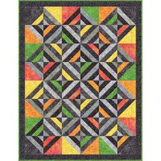 Wilmington Batavian Batiks 2015 Good Vibrations Multi Vibrations Quilt 56 x 63
