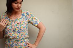 Banksia blouse by Cirque du Bebe.  It's making me want to sew more blouses!