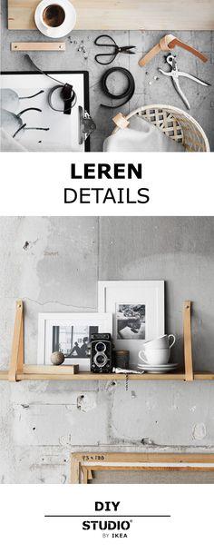 STUDIO by IKEA - Een DIY met stoeren leren details. | #STUDIObyIKEA #IKEA #IKEAnl #DIY #leer