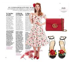 """Untitled #56"" by vogue35-1 ❤ liked on Polyvore featuring Collectif, Charlotte Olympia and Gucci"