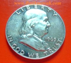 1963 silver Franklin half dollar proof