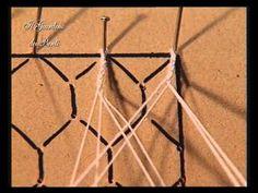 ▶ 2 corso di pizzo al tombolo - rete esagonale - YouTube