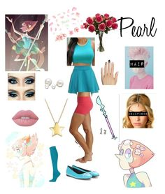 """""""pearl inspired look"""" by elizrose77864 ❤ liked on Polyvore featuring Beyond Yoga, Balenciaga, Ozone, Lime Crime, Allurez and Static Nails"""