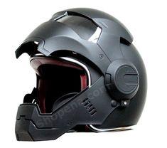 Iron Man Matte Black Open Face Helmet