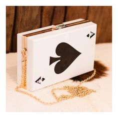 Ace of spades Clutch (€36) ❤ liked on Polyvore featuring bags, handbags, clutches, pink clutches, pink purse and pink handbags