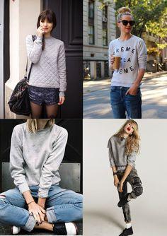 sudadera gris moda 2014