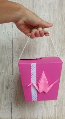 DIY Origami Party - Chinese Take-away box party favour  #thecreativefactory #handmadesummernights
