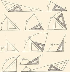 56 ideas drawing architecture technical for 2019 Mathematics Geometry, Geometry Art, Sacred Geometry, Geometric Drawing, Geometric Shapes, Geometric Tools, Math Formulas, Math Art, Designs To Draw