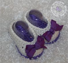 Baby Shoes Crochet Baby Booties  Baby Girl by SweetnessInSmyrna