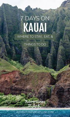 7 Days on Kauai Itinerary: The best food, beaches, & things to do on Kauai - 7 Days on Kauai Itinerary: The best food, beaches, & things to do on Kauai - Kauai Vacation, Hawaii Honeymoon, Beach Trip, Vacation Ideas, Vacation Spots, Oahu, Kauai Hawaii, Hawaii Life, Voyage Hawaii