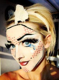 Pop art make up per Carnevale