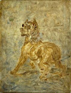 Henri de Toulouse-Lautrec. The Dog (Sketch of Touc), 1880.
