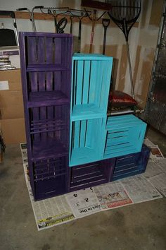 this is what happened when we saw lindsay eidahl s crate post, craft rooms, crafts, how to, organizing, repurposing upcycling, storage ideas