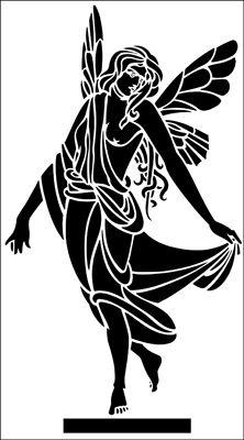 Nymph stencil from The Stencil Library ARCHITECTURE range. Stencil Patterns, Stencil Designs, Kirigami, Library Architecture, Neoclassical Architecture, Stencils Online, Art Journal Prompts, Arte Tribal, Large Stencils