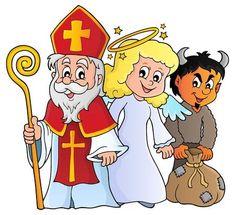 Illustration of Saint Nicholas Day theme 1 - vector illustration. vector art, clipart and stock vectors. St Nicholas Day, School Frame, Banner Printing, Image Photography, Vector Art, Disney, Backdrops, Clip Art, Illustration
