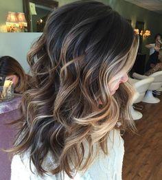 Highlights For Dark Brown Hair, Brown Hair Balayage, Brown Blonde Hair, Balayage Brunette, Light Brown Hair, Hair Color Balayage, Caramel Highlights, Color Highlights, Brunette Highlights