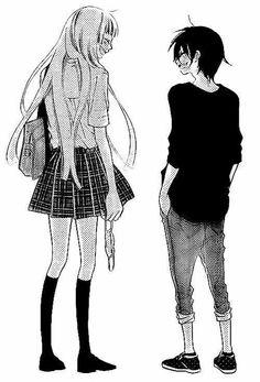 Short girl and tall guy couple anime Tall Girl Short Guy, Tall Guys, Short Girls, Anime Couples Drawings, Cute Anime Couples, Anime Monochrome, Pokemon People, Girl Couple, Seven Deadly Sins Anime
