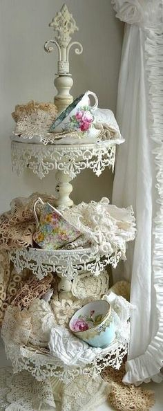 Teacups and lace