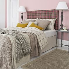 Looking for cosy bedroom design ideas? Take a look at this pink country bedroom from Country Homes & Interiors for inspiration. For more bedroom ideas, such as how to decorate with tartan and tweed, visit our bedroom galleries Taupe Bedroom, Cosy Bedroom, Bedroom Colors, Bedroom Decor, Bedroom Ideas, Bedroom Designs, Tweed, Country House Interior, Country Homes