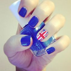 british flag. nails by me
