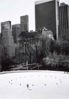 Lone Skater, Central Park, New York, 1998.  Photo by Bill Perlmutter.