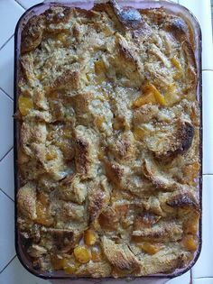 peach bread pudding | Flickr - Photo Sharing!  interested in recipe?  i'll share if anybody wants it - i didn't post it anywhere