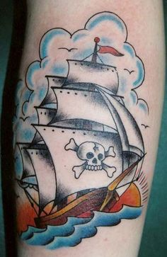 Ship Tattoo Designs: Stalwart Over Troubled Waters - Tattoo Meanings